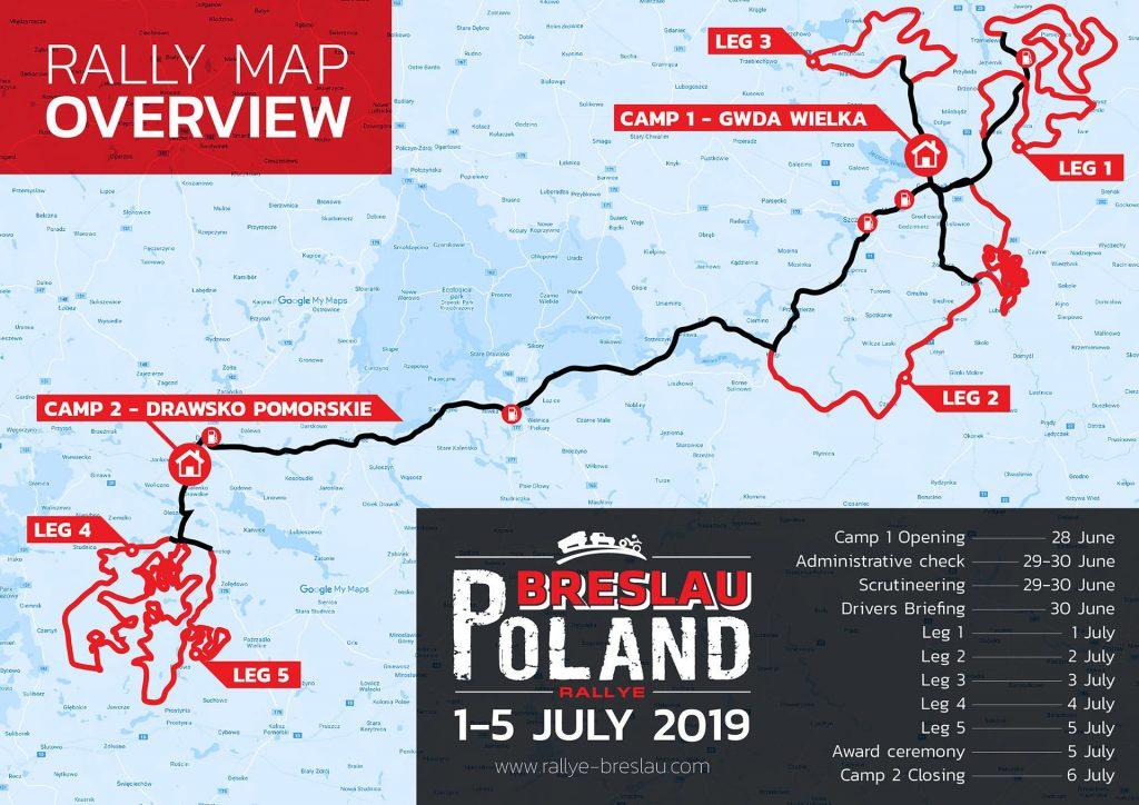 Programma 25e editie Rallye Breslau Polen bekend gemaakt