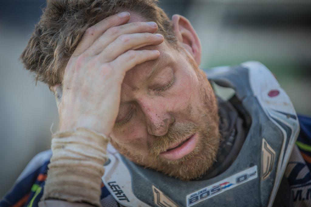 Arjan Bos gesloopt door voorlaatste etappe
