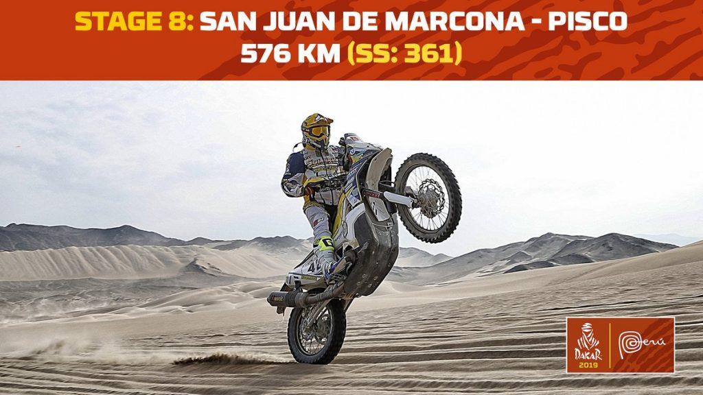 LIVE – Dakar 2019: Etappe 8: San Juan de Marcona – Pisco