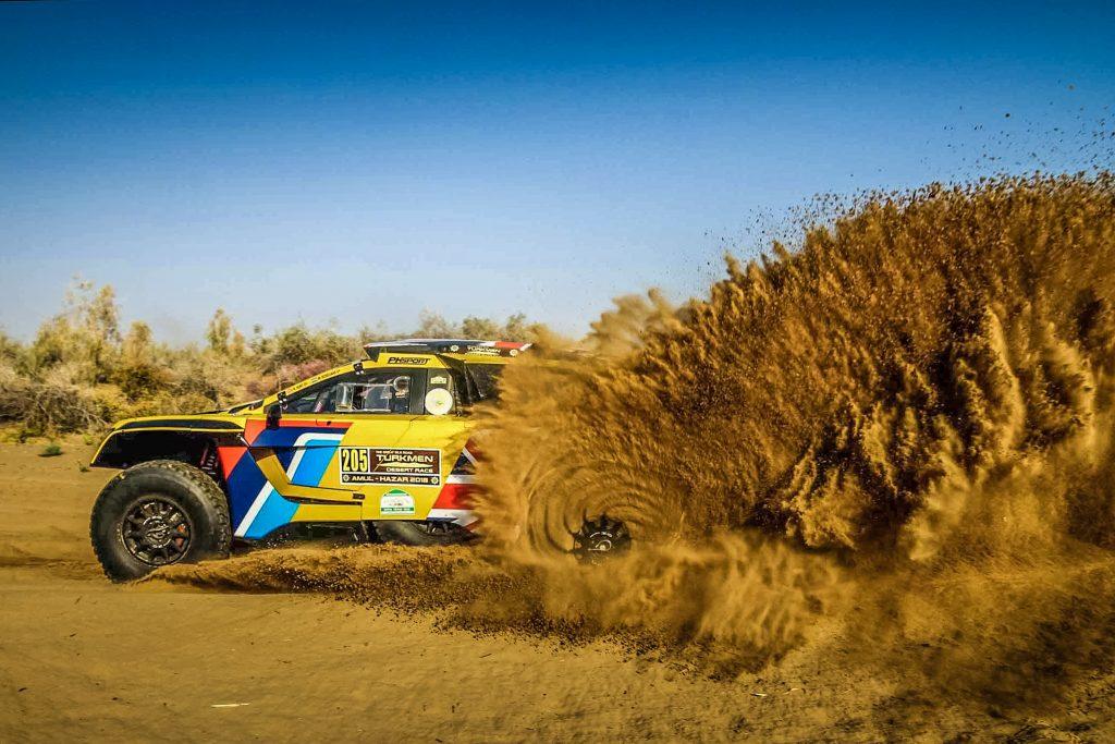 Hunt/Rosegaar pakken eerste overwinning samen in Turkmen Desert Race