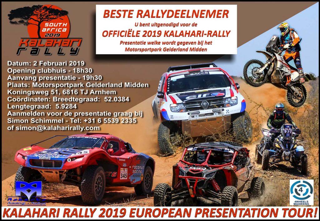 Presentatie Kalahari Rally 2019 2 februari  a.s.