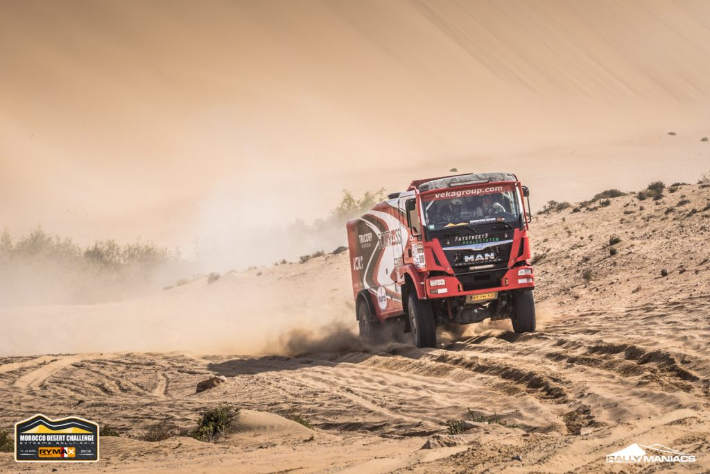 Veel problemen voor trucks in stenenetappe MDC
