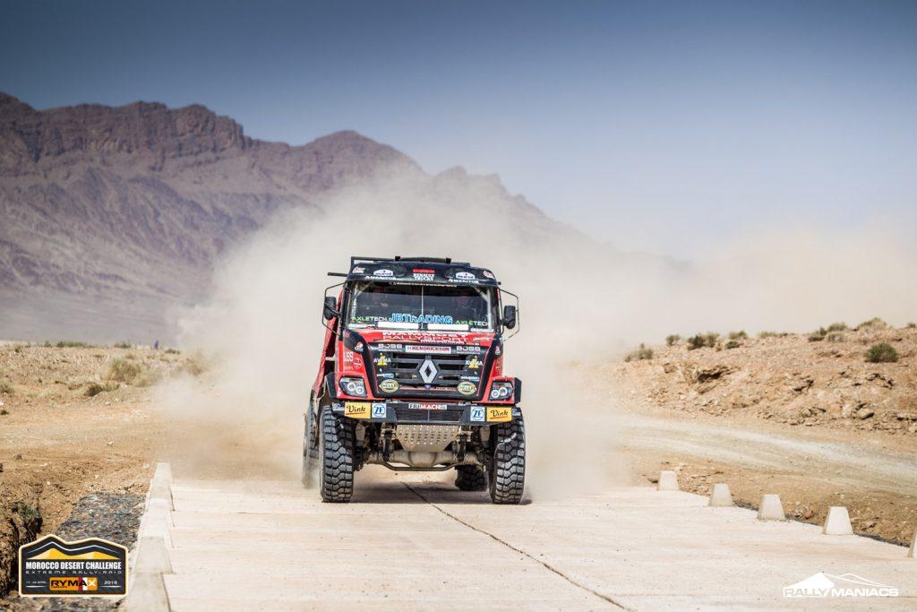 Spannende strijd om minuten in truckrace Morocco Desert Challenge