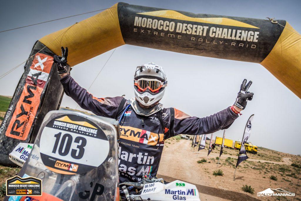 Tevreden top 3 aan de finish van Morocco Desert Challenge