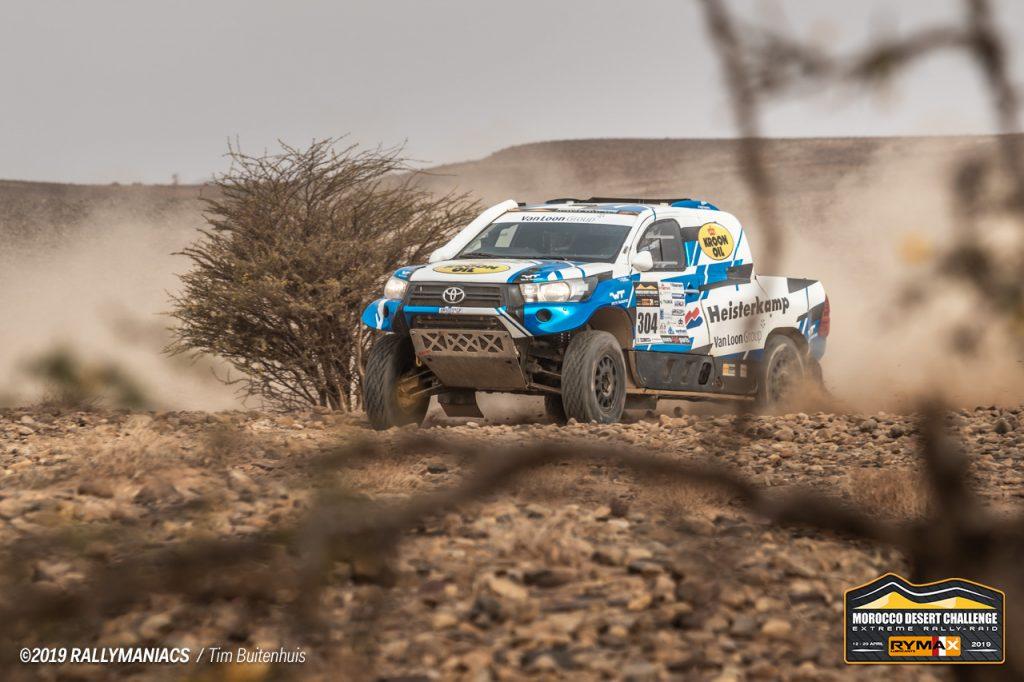 Technisch probleem maakt het spannend voor Erik van Loon in Marokko