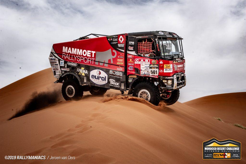 Mammoet Rallysport klimt naar podiumplaats in zesde etappe MDC