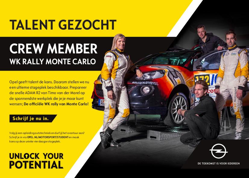 Droomvacature Timo van der Marel WK Rally Monte Carlo