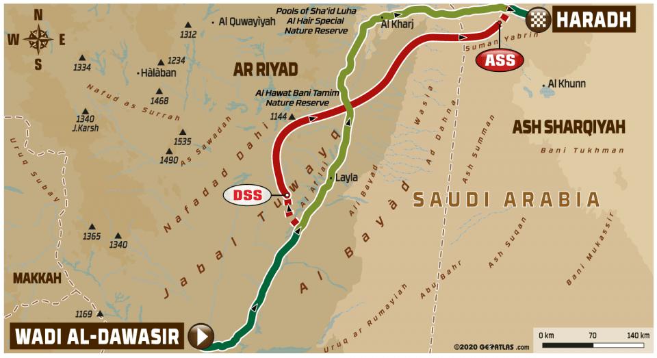 LIVE Dakar Rally 2020: Etappe 9 – Wadi Al-Dawasir – Haradh