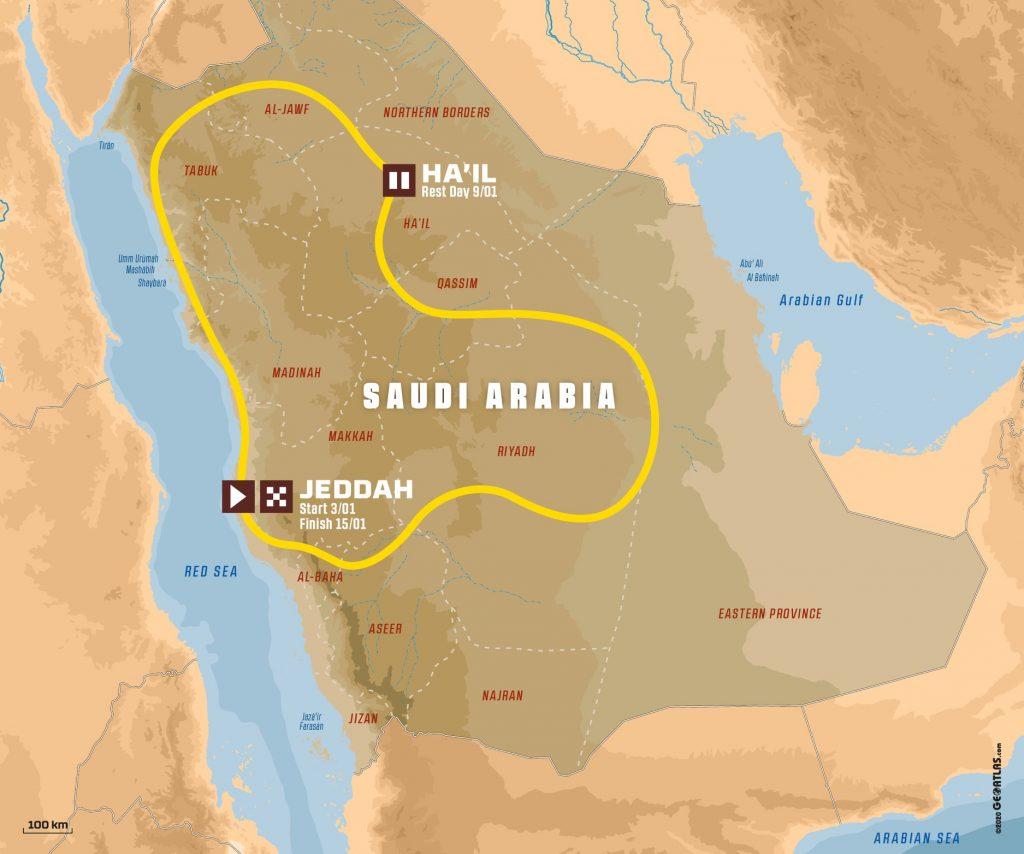 Dakar 2021 keert op 1 januari terug naar Saoedi-Arabië
