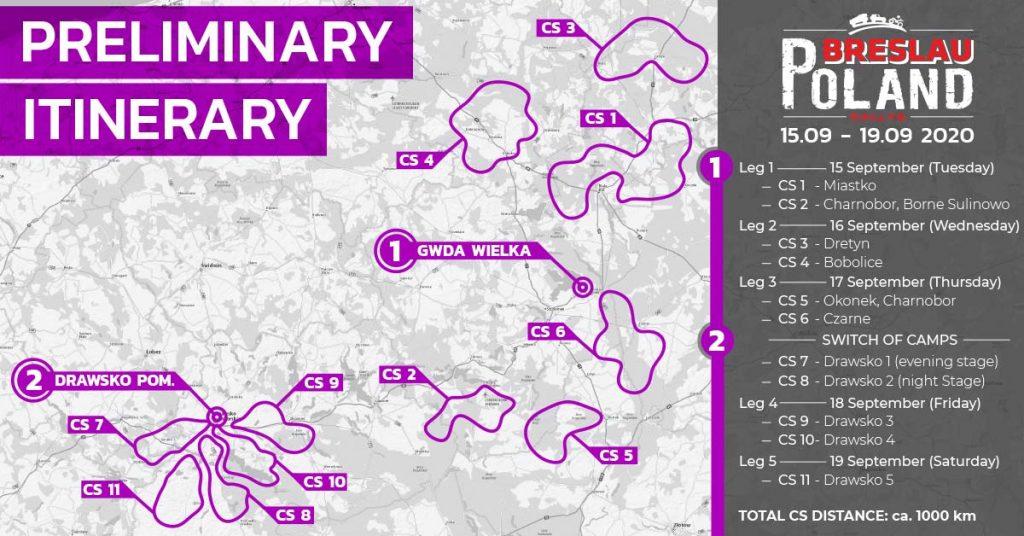 Breslau Rally Polen 2020: groot deelnemersveld, nieuwe tracks