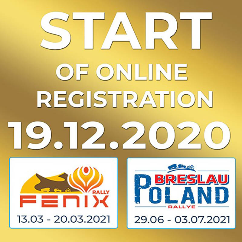 Registratie Fenix Rally + Breslau Rallye Poland 2021 volgende week open