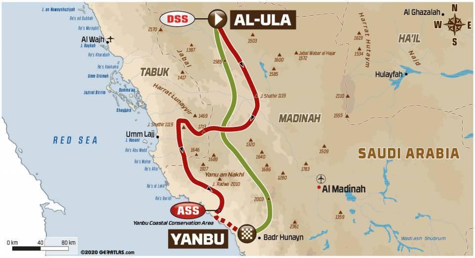 Spoorboekje Dakar 2021: De elfde etappe van Al-Ula naar Yanbu
