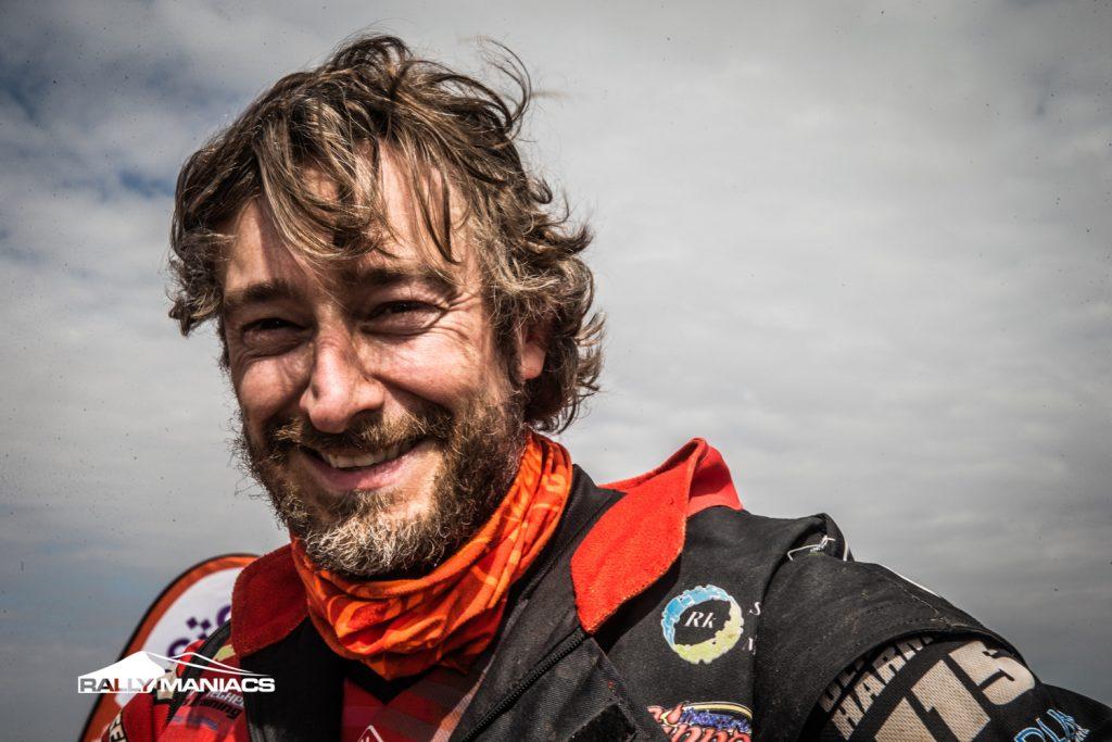 Olaf Harmsen met veel voldoening aan de finish