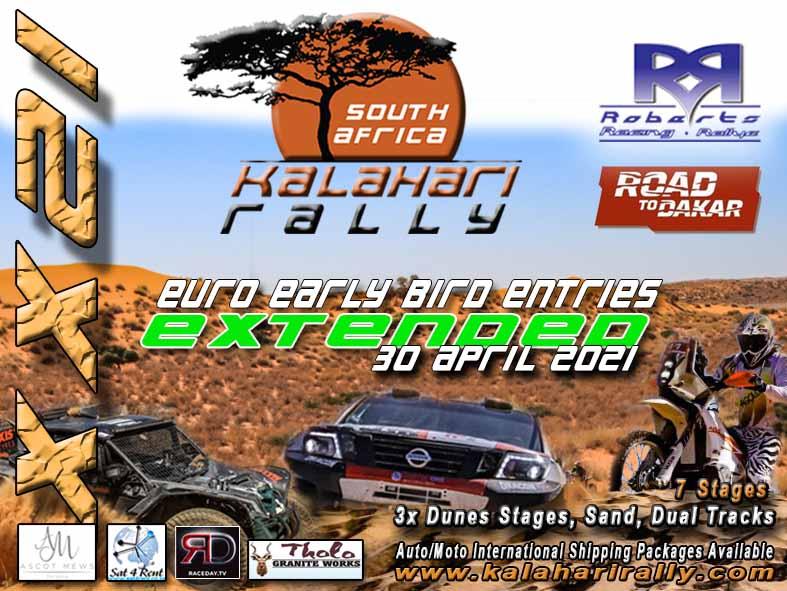 Kalahari Rally 2021: vroegboekkorting verlengd
