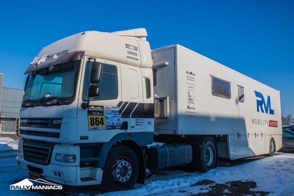Te koop: City trailer met DAF CF trekker
