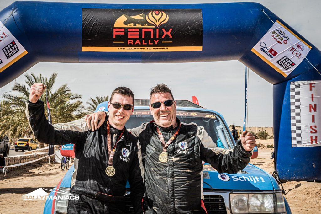 Schijf Rally besluit de Fenix Rally met knappe vijfde plaats