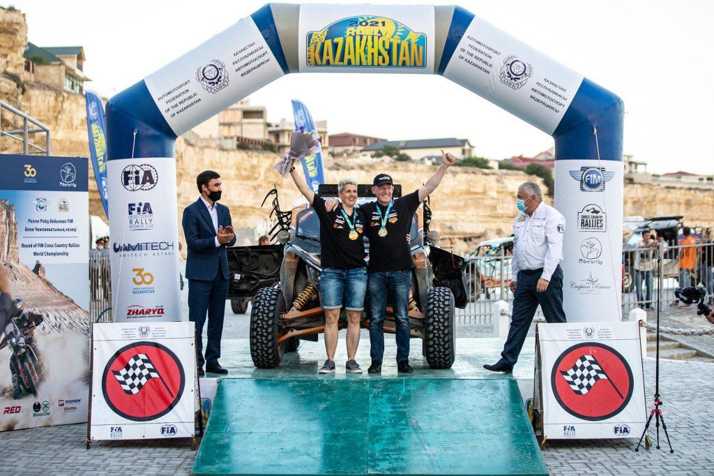 Koolen en Pol 3e in Kazakhstan Rally