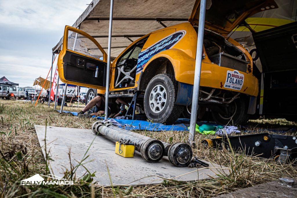 Joosten en Van Beelen teleurgesteld na opgave in Breslau Rallye