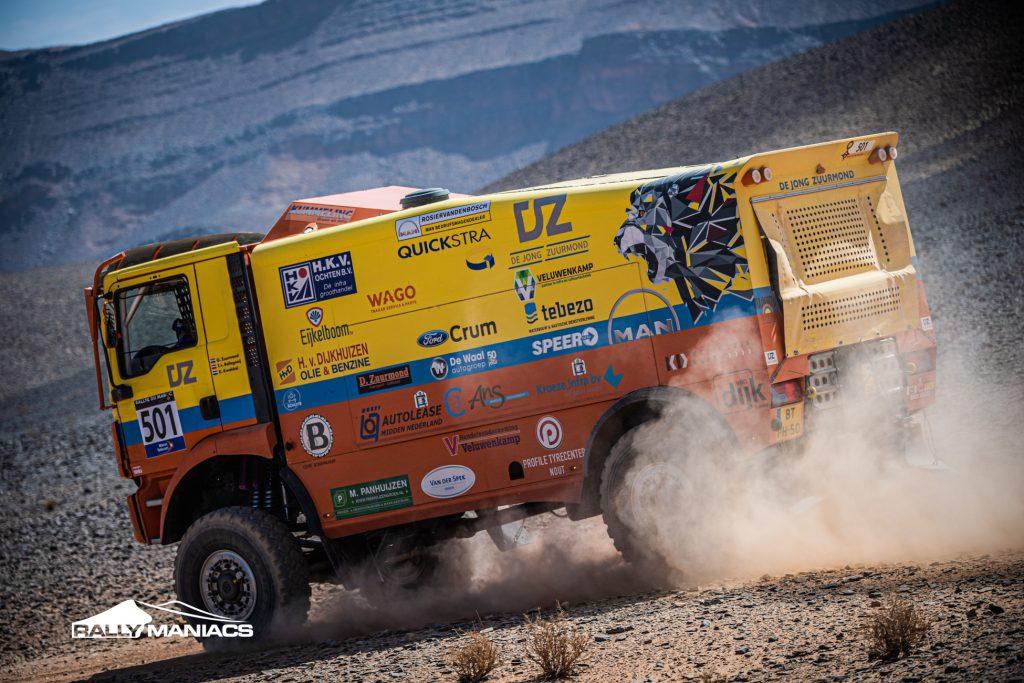 Rainbow Truck Team gaat aan de leiding in Rallye du Maroc
