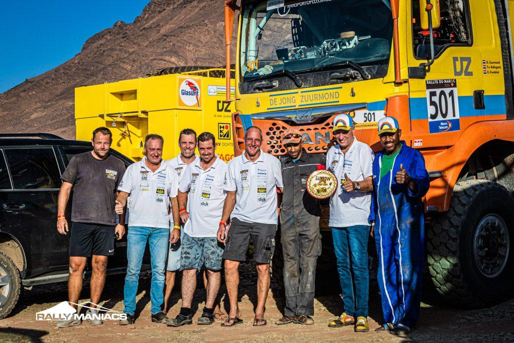 Eindzege in Rallye du Maroc onverwachte opsteker voor Rainbow Truck Team